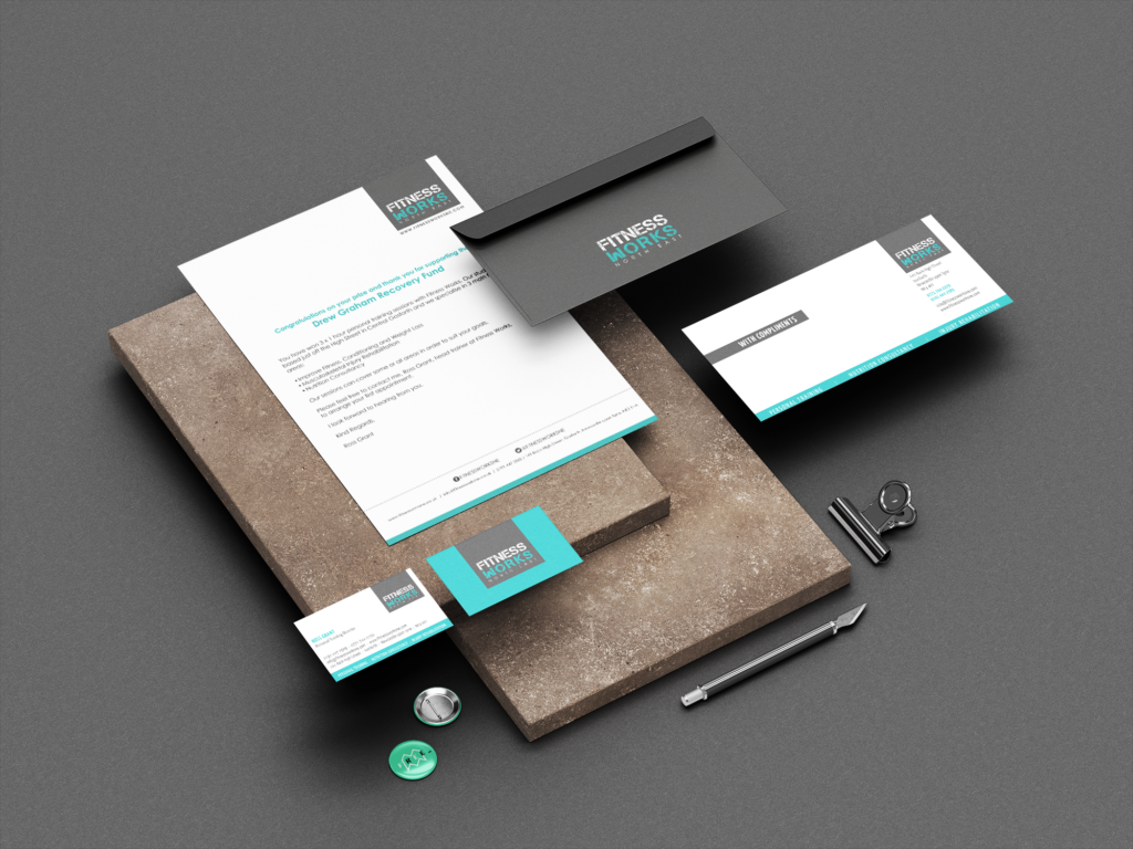 fitness works stationery design newcastle
