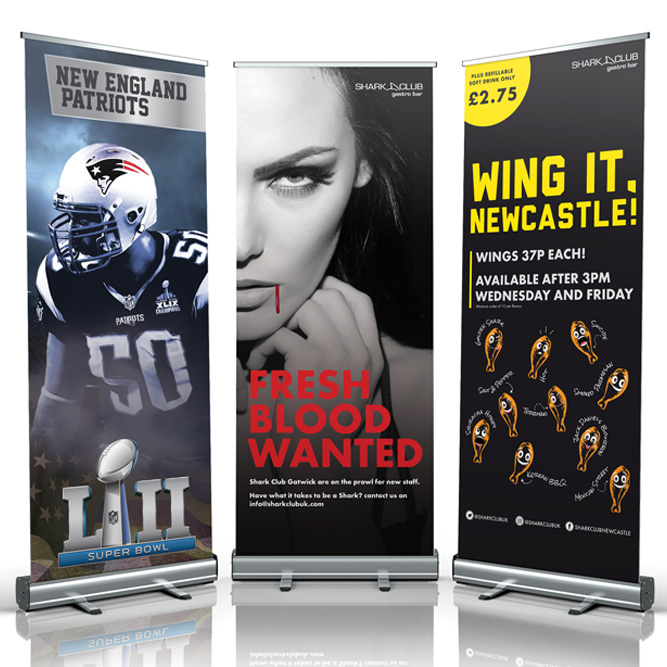 pull up banner design services newcastle