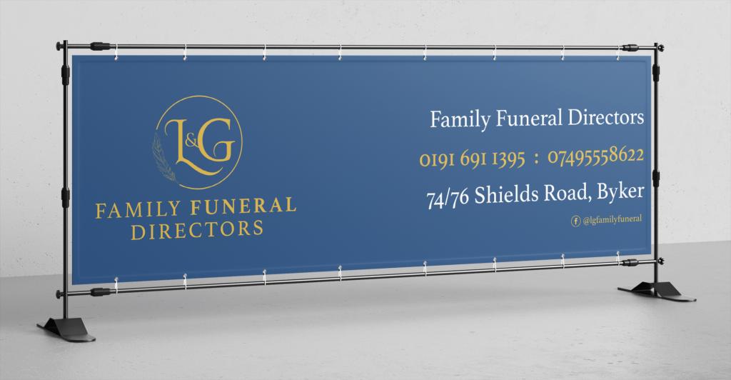 Funeral directors logo branding advert design newcastle