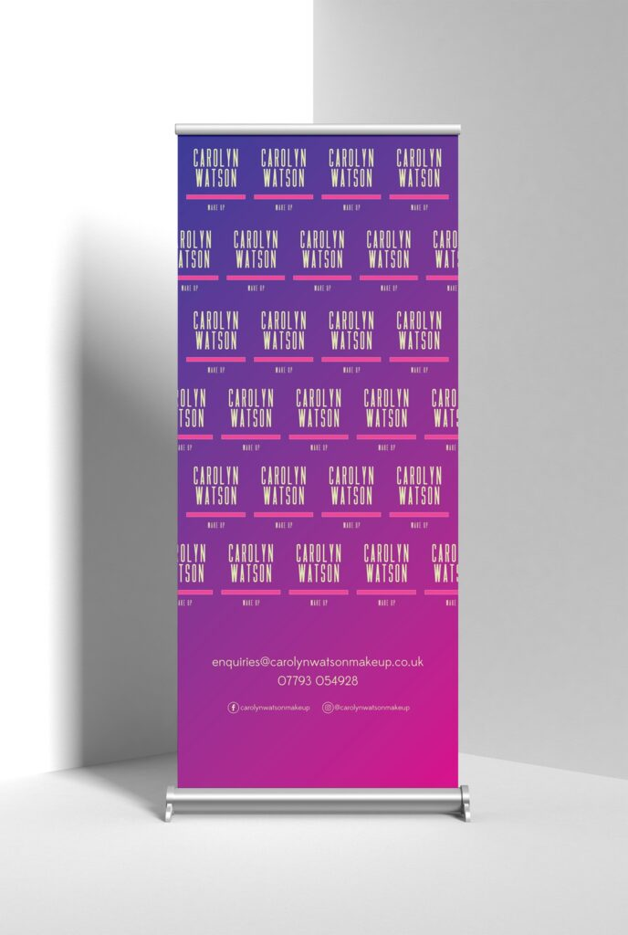 pull up banner graphic design services newcastle
