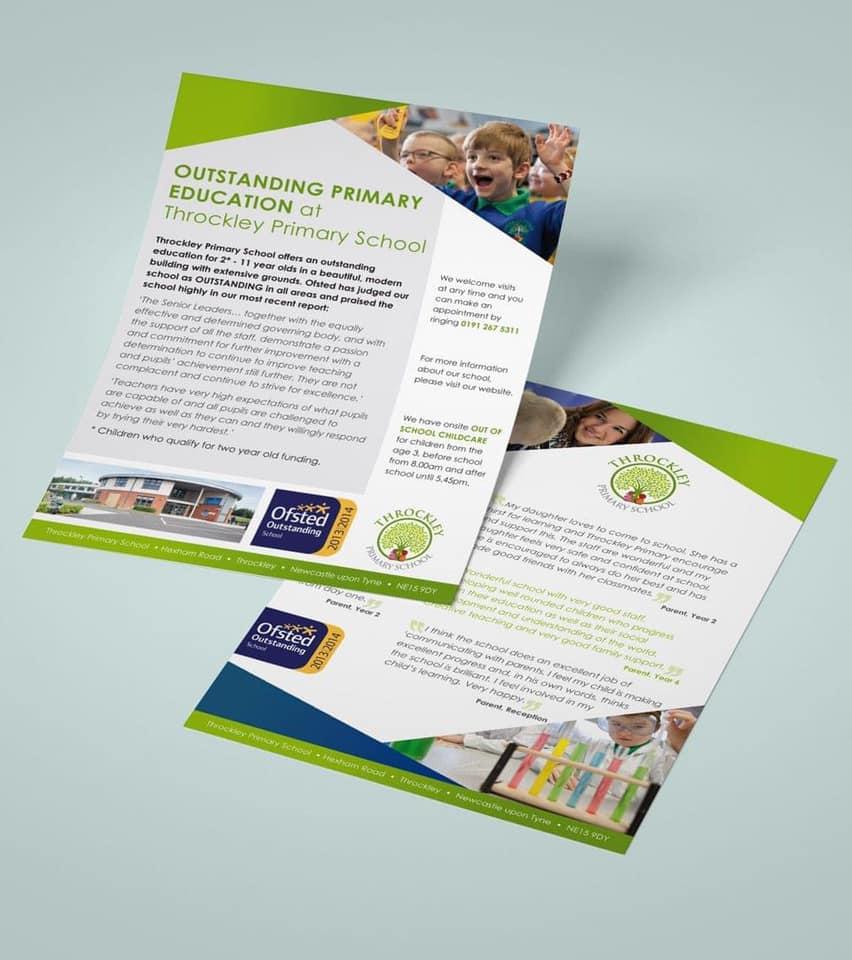 education flyer leaflet design newcastle