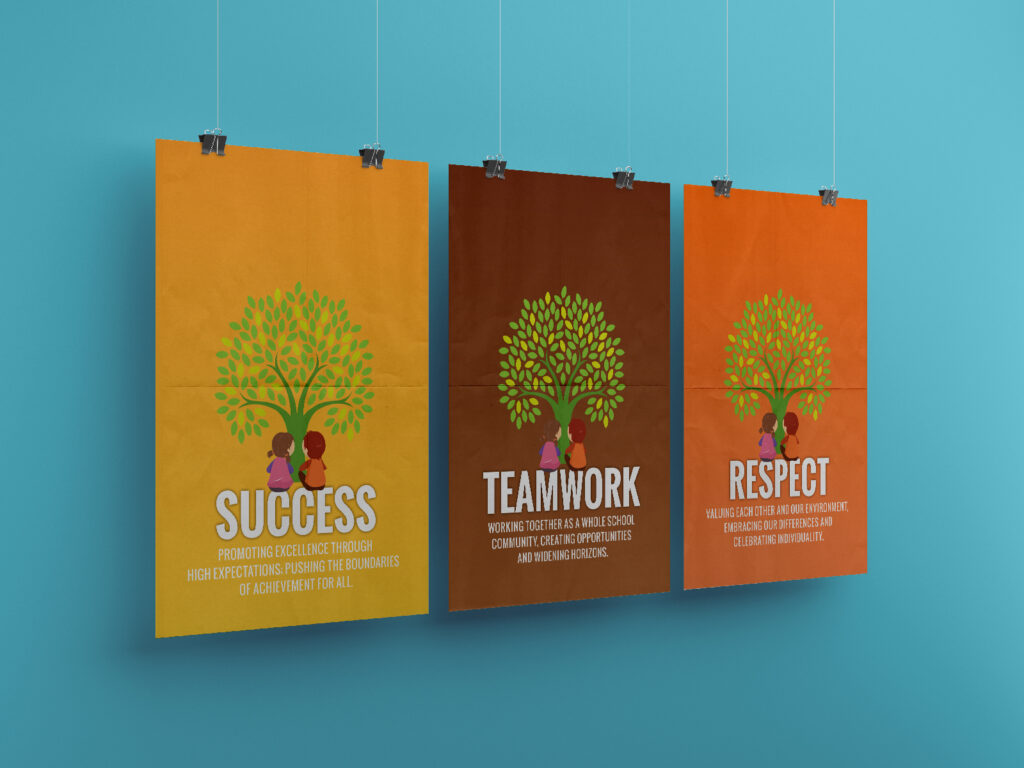 school vision poster graphic design newcastle